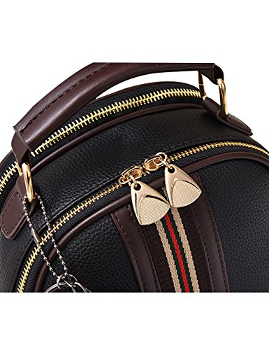 Shoulder Zoulee Lady Bag Handbag New Bags Messenger Women's PU Black rqT6Wrxw7t