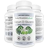 Calcium D Glucarate 500mg 90 Vegan Capsules (Three Month Supply) For Liver Detox, Hormone Balance, Weight Loss, Menopause. Non-GMO, Soy-Free, Gluten-Free