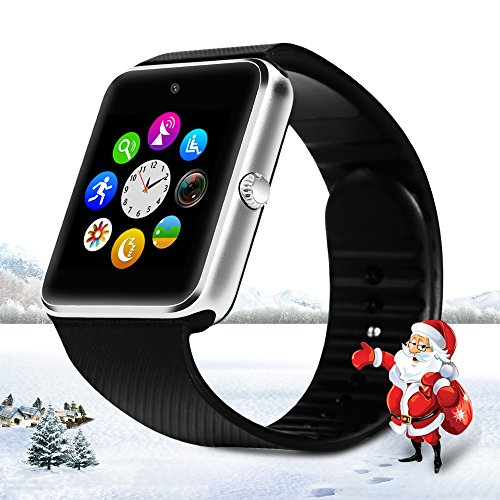 StarryBay SW-08-1 Sweatproof Smart Watch Phone for iPhone 5s/6/6s and 4.2 Android or Above SmartPhones - Black