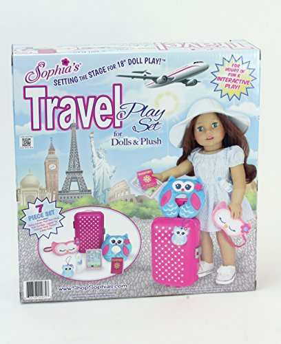 Sophia S Doll Travel Play Set By 7 Piece Doll Accessory