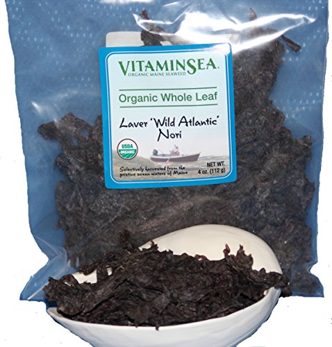 VitaminSea Organic Nori Seaweed Laver - 4 oz Whole Leaf Maine Coast - USDA & Vegan Certified - Kosher - Perfect For Keto & Paleo Diets - Sun Dried - Raw Wild Atlantic Ocean Sea Vegetables (NW4)