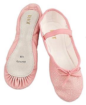 8b1235329b96 BLOCH PINK Talullah Girls party Glitter Ballet pumps slippers (KIDS  UK12 EU30)