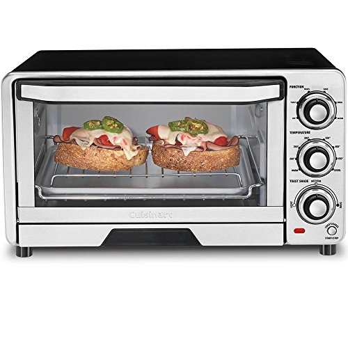 Cuisinart TOB-40FR Custom Classic Toaster Oven Broiler, Silver (Certified Refurbished) (Small Oven Cuisinart compare prices)