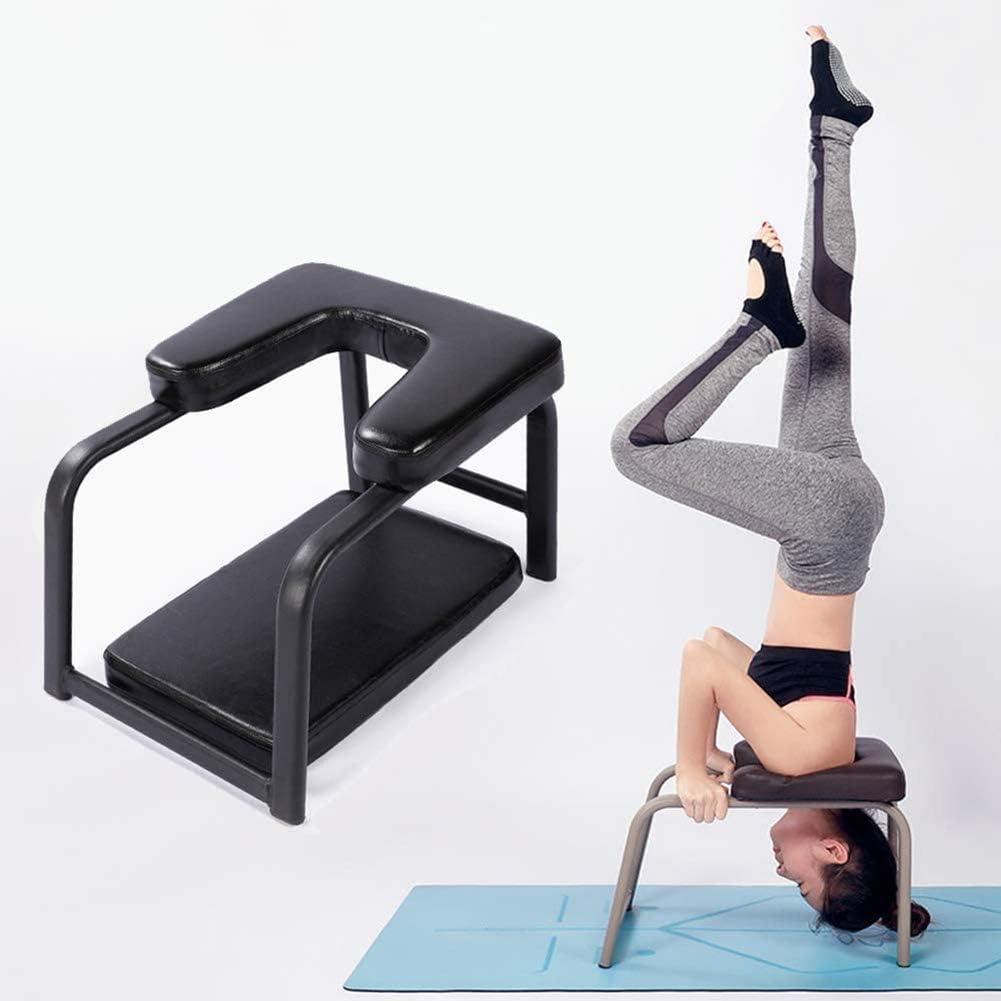Yoga Kopfstandhocker Yoga Handstand Bench Safe Yoga Kopfstandstuhl Yoga Hilft Trainingsstuhl Multifunktionale Invertierte Sport/übungsbank Fitnessger/äte Den Perfekten K/örper Chair