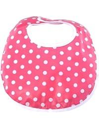 Laminated Infant Bib, Dot Shocking Pink