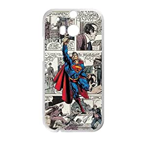 HTC One M8 Cell Phone Case White Superman Ujqc