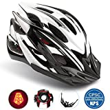 Basecamp Specialized Bike Helmet with Safety Light,Adjustable Sport Cycling Helmet Bicycle Helmets for Road & Mountain Motorcycle for Men & Women,Youth Safety Protection (Blackwhite-BigLight) Review