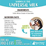 Raw Paws Frozen Raw & Powdered Goat Milk for Dogs & Cats - Made in USA - Milk Replacer for Puppies & Kittens - Goats Milk Supplement for Pets - Pet Food Topper & Enhancer