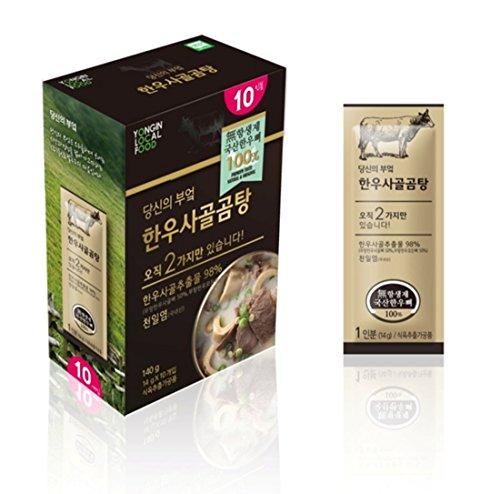 ARIO Antibiotic Free Beef Bone Broth Concentrate   Seolleongtang   Gomtang   Ox Bone Soup   10 Stick Packs