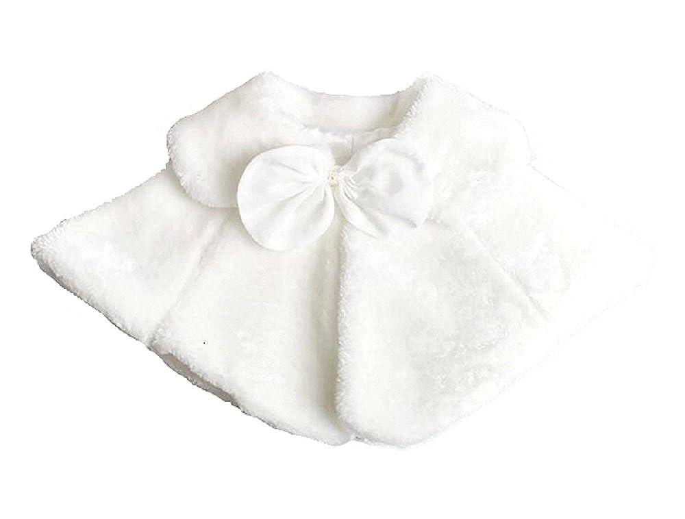 Dastan Sweet Girls Princess Faux Fur Cape Shoulder Coat - Bow Tie- 1-14 Years 1670