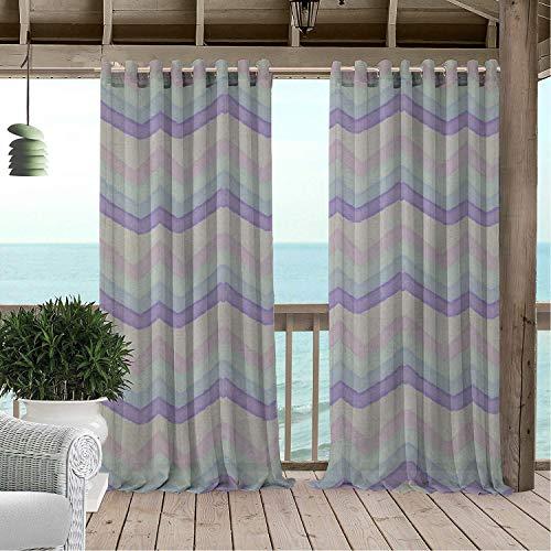 (Linhomedecor Gazebo Waterproof Curtains Irregular Ripple pergola Grommets Backdrop Curtain 72 by 108 inch)