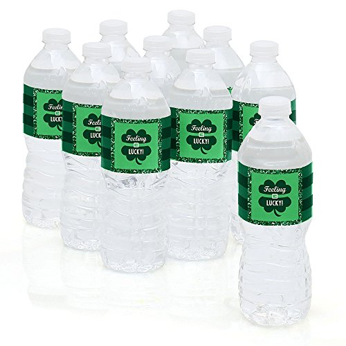 St. Patrick's Day Party Water Bottle Sticker Labels
