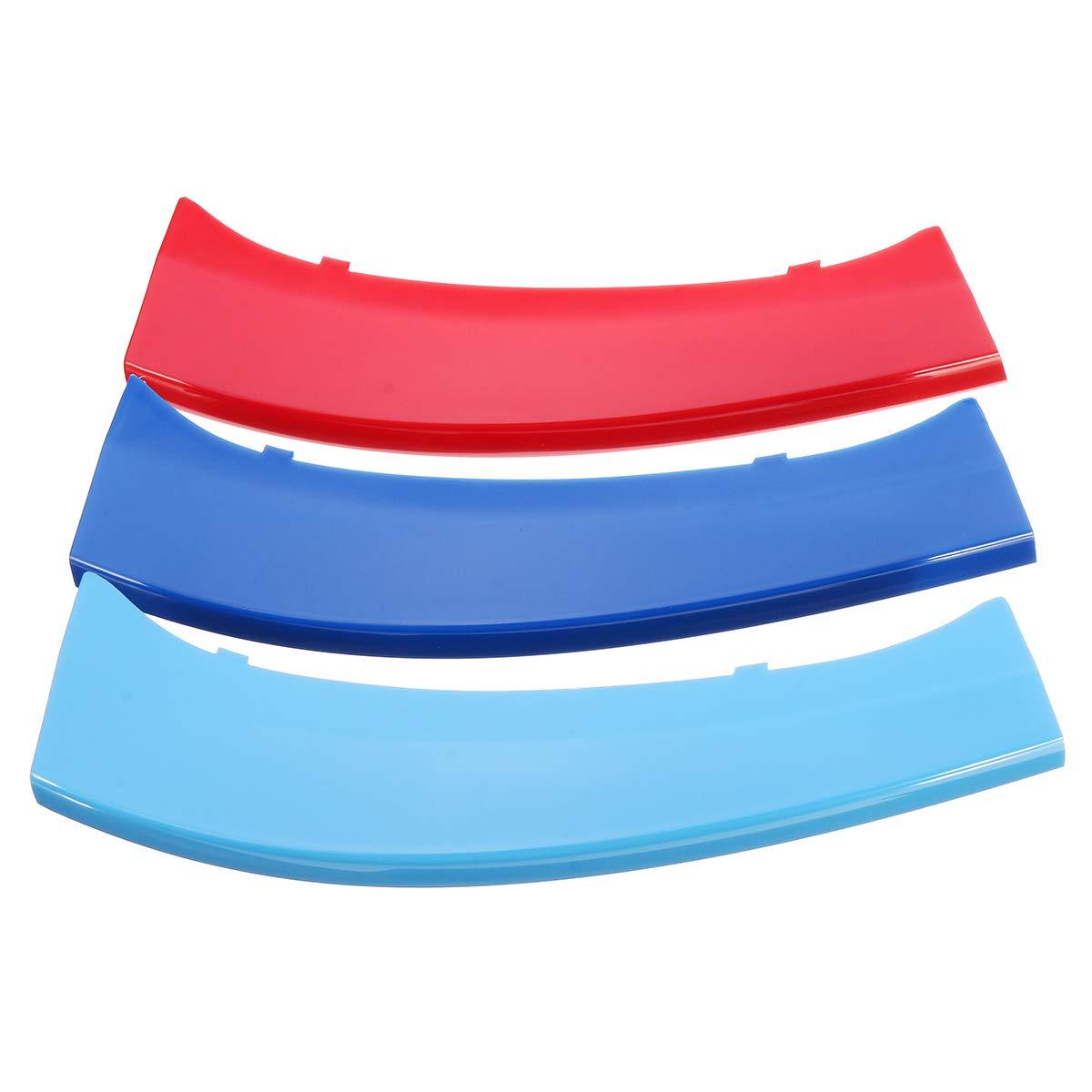JenNiFer 3Pcs Tricolor Plastic Front Center Grille Cover Trim F/ür BMW X4 F26 2014 2015