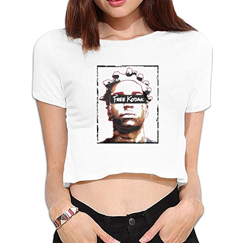 Price comparison product image women's Free Kodak (Limited & Exclusive) bare midriff crop top Tee White M