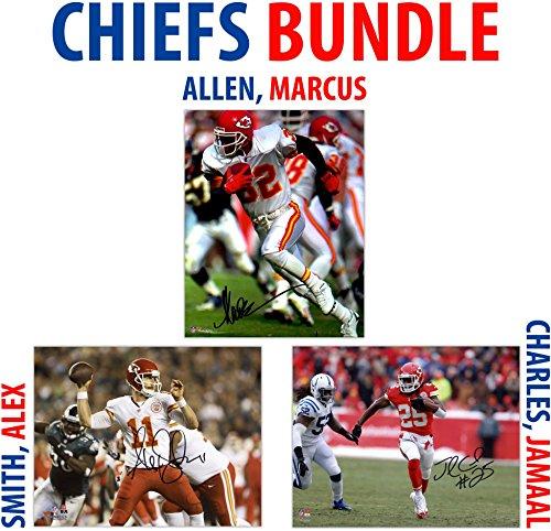 Marcus Allen Autograph - Marcus Allen, Jamaal Charles, Alex Smith Kansas City Chiefs Autographed 8