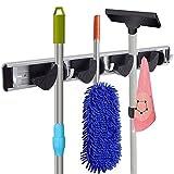 RockBirds T45 Towel Hook, Mop and Broom Holder, Storage Solutions for Broom Organizer, Closet Garage Organizer, Garden Tool Storage