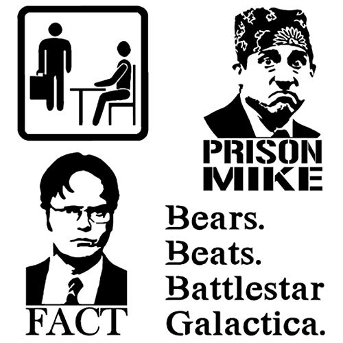 Detailed Decals Dwight Fact, Prison Mike, Bears Beats Battlestar Galactica (PrisonMike Black) ()