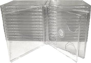 Amazon.com: (25) STANDARD Clear Double CD Jewel Case - CD2R10CL ...