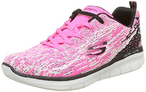 Skechers Synergy 2.0-High Spirits, Baskets Femme, Bleu Multicolore (Hot Pink/Black)