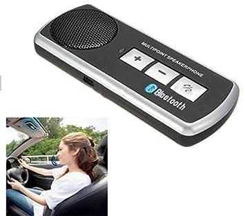 BW Bluetooth Manos libres Kit de coche Altavoz Sun Visor Clip para teléfono móvil iPhone 6S