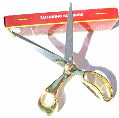 Drency Stainless Steel Sewing Scissors. High Duty Dressmaker's Tailor Shears. 11 Inch (No Cut Scissors)