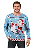 Men's Santa Vs Shark Ugly Christmas Sweater - 2X