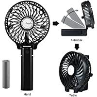 EasyAcc 2600mah Battery Operated USB Fan with Rechargeable Battery