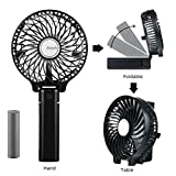 Appliances : EasyAcc 2600mah Battery Handheld Fan Portable Battery Operated USB Fan Mini Personal Fan Outdoor Electric Fan with Rechargeable LG 2600mAh Battery Adjustable 3 Speeds Foldable Home and Travel -Black