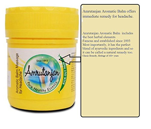 Art-collectibles-India-Best-Selling-cream-for-headache-3-tubs-of-AMRUTANJAN-AYURVEDIC-HERBAL-Pain-Balm-for-head-aches-back-pain-9gm