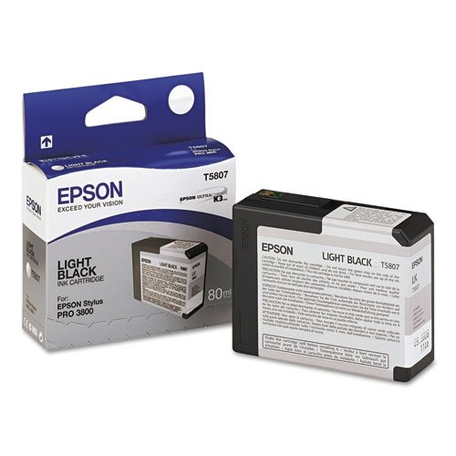 - Epson T5807 UltraChrome K3 Light Black Cartridge Ink