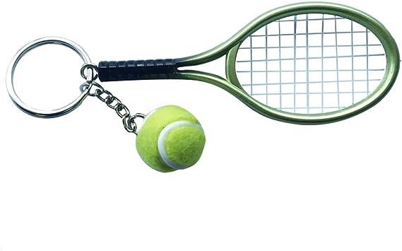 Decoración Bolso Llavero Colgante Anillo de Mini Pelota de Tenis ...