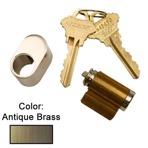 Andersen Hinged Exterior Keyed Lock in Antique Brass 1988 to Present