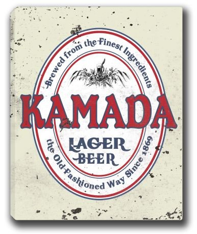 Kamada Lager Beer Stretched Canvas Sign 24  X 30
