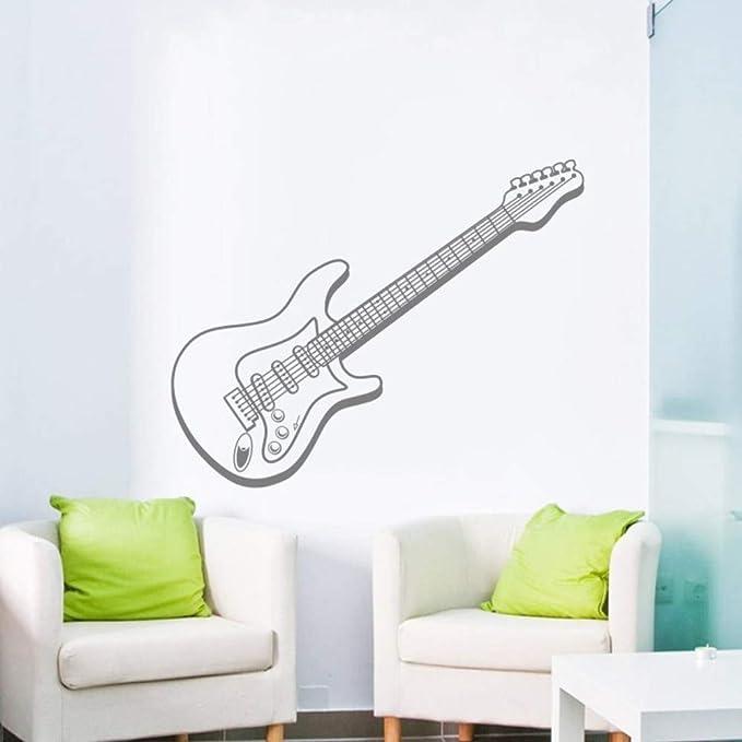 JJHR Pegatinas de pared Música Arte Etiqueta De La Pared Guitarra ...