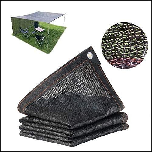 10ftx 26ft /3m×8m(Nero) Rete Tessuta ombreggiante Parasole da Vela Tenda e recinto Schermo Terrazza e Baldacchino