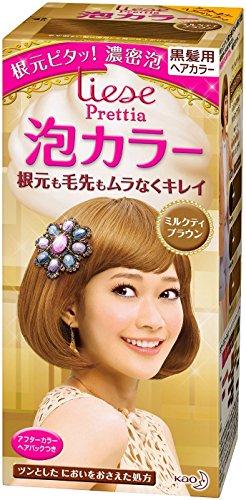 KAO Japan Liese Prettia Creamy Bubble Hair Color for Dark Hair (Milk Tea Brown)