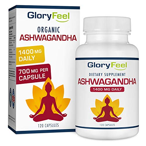 Ashwagandha 1400mg Made with Organic Ashwagandha Root Powder & Black Pepper Extract - 120 Capsules. 100% Pure Ashwagandha Supplement for Stress Relief, Anti-Anxiety & Adrenal, Mood & Thyroid Support (Best Anti Anxiety Medication For Weight Loss)