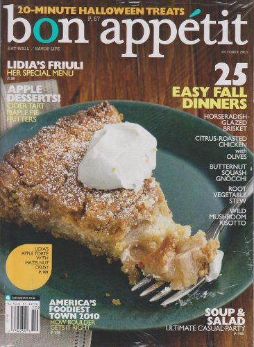 Bon Appetit October 2010 25 Easy Fall Dinners (20-Minutes Halloween -