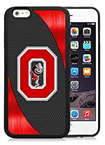Customized Iphone 6 Case with Ncaa Big Ten Conference Football Ohio State Buckeyes 14 Protective Cell Phone TPU Cover Case for Iphone 6 Generation 4.7 Inch Black