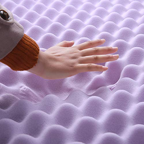 Best Price Mattress King 3 Inch Egg Crate Memory Foam Bed Topper with with Lavender Cooling Mattress Pad,