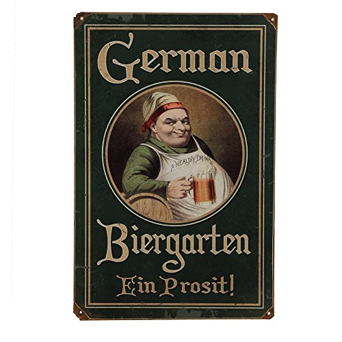 Vintage German Biergarten Metal Bar Sign for $<!--$18.49-->