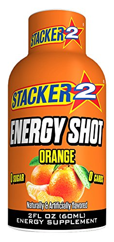 Stacker 2 Energy Shots, Orange, 2 Ounce (60 (Stacker 2 Energy Shot)