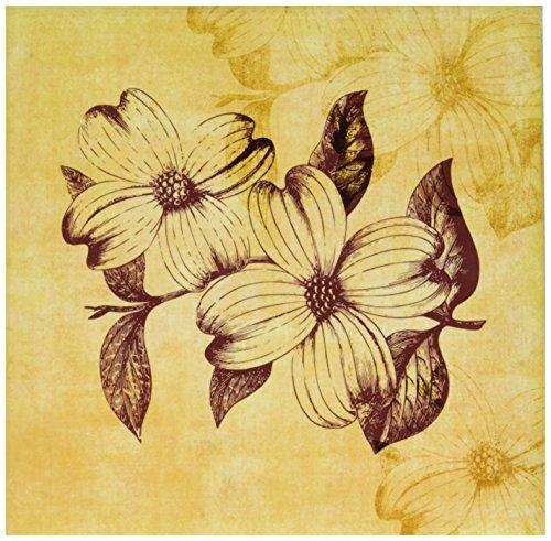 3dRose ct_79364_3 Vintage Dogwood Flowers- Botanical Art-Ceramic Tile, 8-Inch
