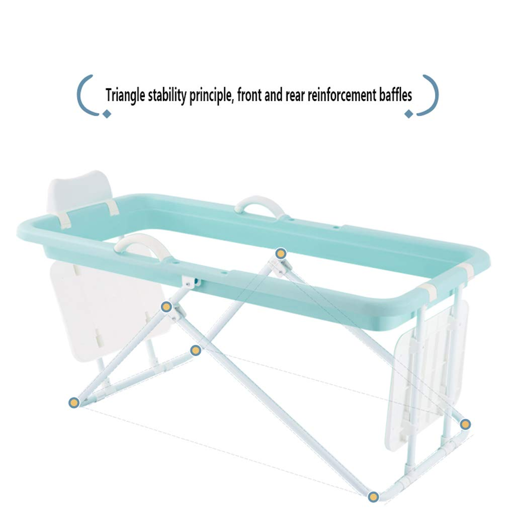 Colore : Green, Dimensioni : 110 * 50 * 53cm Cqq Bathtub Vasca da Bagno Pieghevole per Adulti//Bambini in plastica Grande Nuoto per Bambini Portatile//Vasca Non Gonfiabile//Vasca Lavanderia