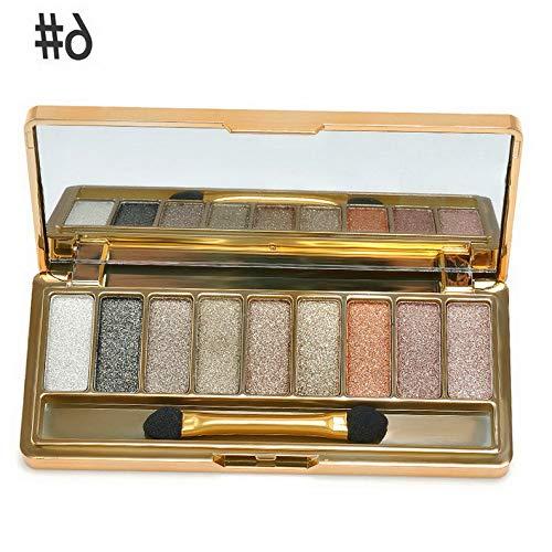 (Kaputar 9 Colors Shimmer Eyeshadow Eye Shadow Palette Makeup Cosmetic Brush Set   Model MKPBRSH - 5054)