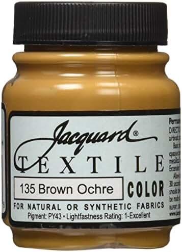 Jacquard Textile Color Fabric Paint 2.25 Ounces-Brown Ochre