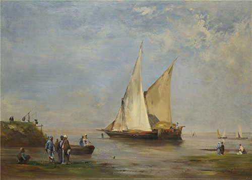 The High Quality Polyster Canvas Of Oil Painting 'Eugne Fromentin The Banks Of The