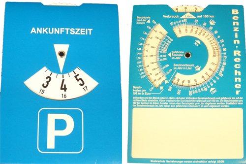 Parkuhr 240239 Parkscheibe mit Benzinrechner