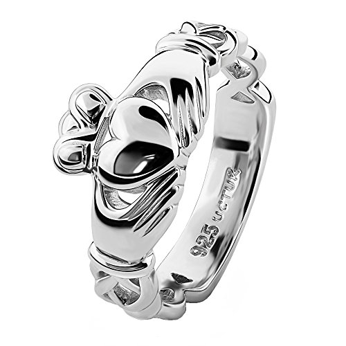Unisex UUS-6341 Sterling Silver Claddagh Ring (9)