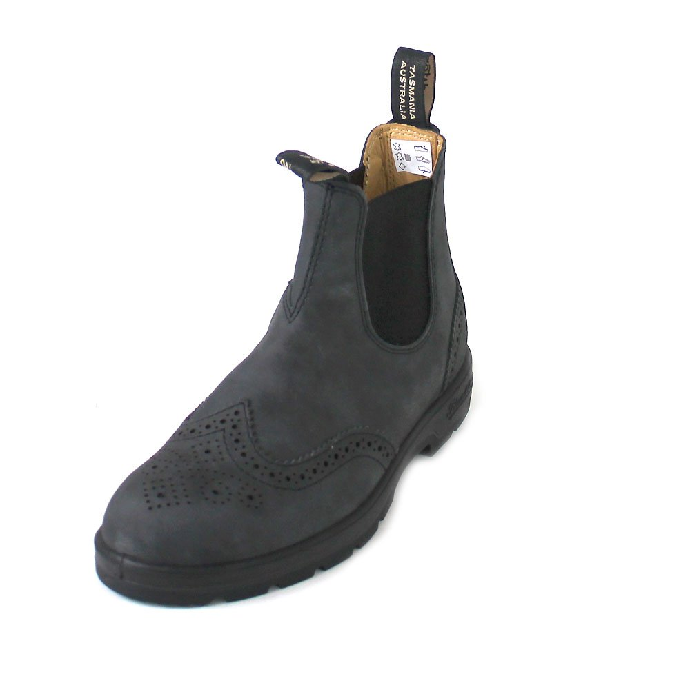a76a1b51098 Blundstone Mens 1472 Rustic Black Leather Boots 12 US